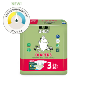Muumi Baby Diapers Koko 3 kosteusindikaattori