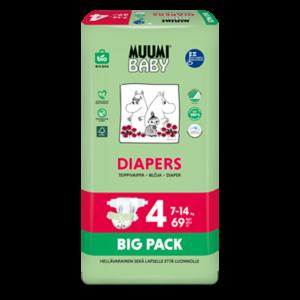 Muumibaby vaippapakkaus_Diapers Nr4 BigPack 69kpl