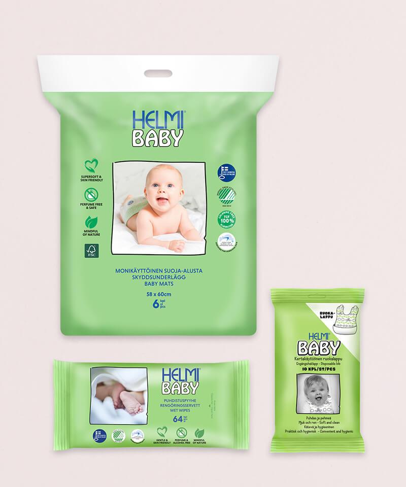 Helmi Baby hoitotuotteet koonti