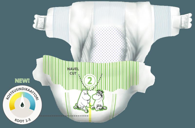 Muumi Baby starters vaippa kosteusindikaattori