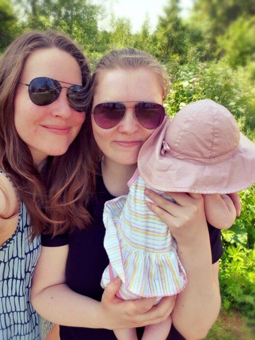 Niina ja Emilia kaksi äitiä Pride